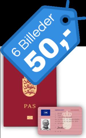 Billeder til pas og kørekort